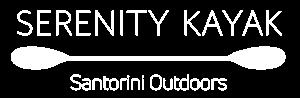 logo serenity kayak white